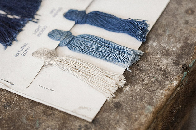 Rope dyed indigo, pt. 1    Garments made with the makers of the British Isles