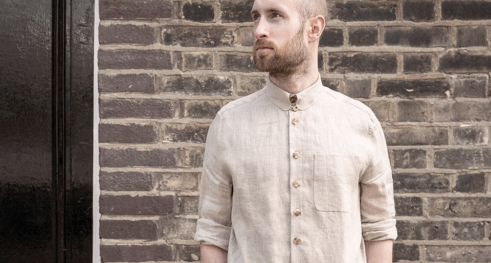 Oatmeal linen shirt — Garments made with the makers of the British Isles by S.E.H Kelly