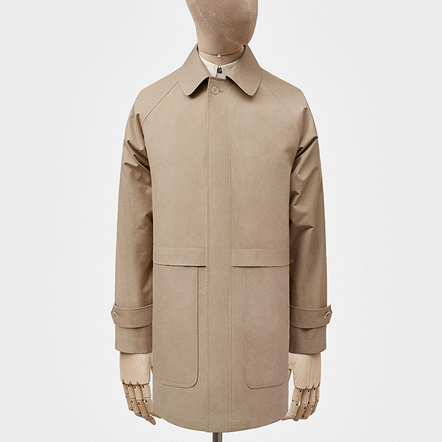 Car coat in manila Ventile cotton — S.E.H Kelly