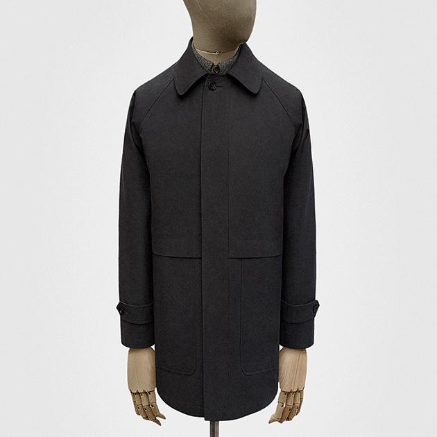 Car coat in space grey Ventile cotton — S.E.H Kelly