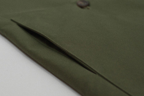 Dark green Ventile rainproof mac Clothes made in England