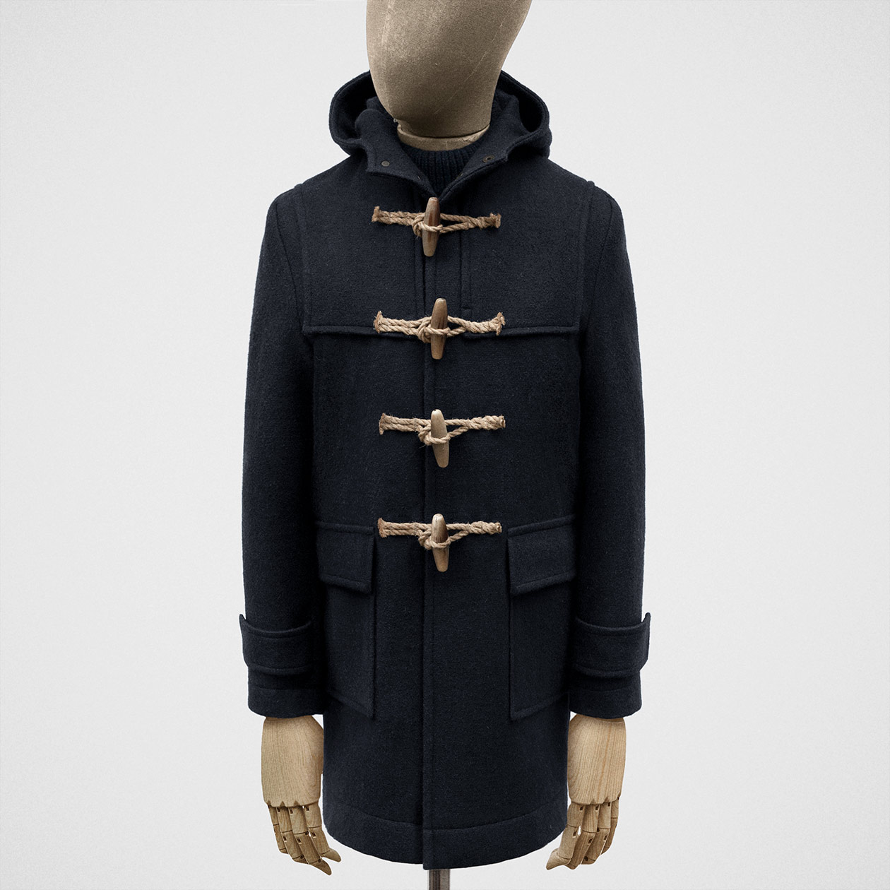 vast selection enjoy free shipping world-wide renown Duffle coat in heavy melton hopsack in dark navy
