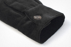 Nearly black horizontal cord overshirt    Garments made with the makers of the British Isles