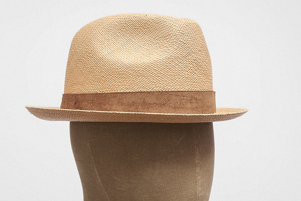 fc747865 Not just any straw hat, this. No, this is a straw hat made from undyed  toquilla palm leaves — i.e. panama. It has a short, upturned brim, and a  teardrop ...