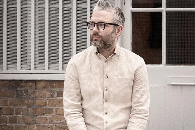 button down shirt natural white stripe linen 1s on Worn page