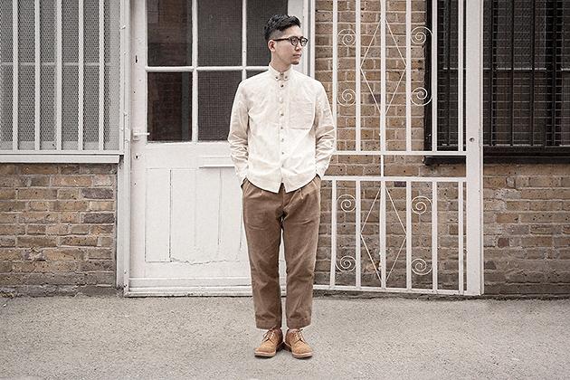 ecru heather cotton linen button down shirt worn 1s on Worn page