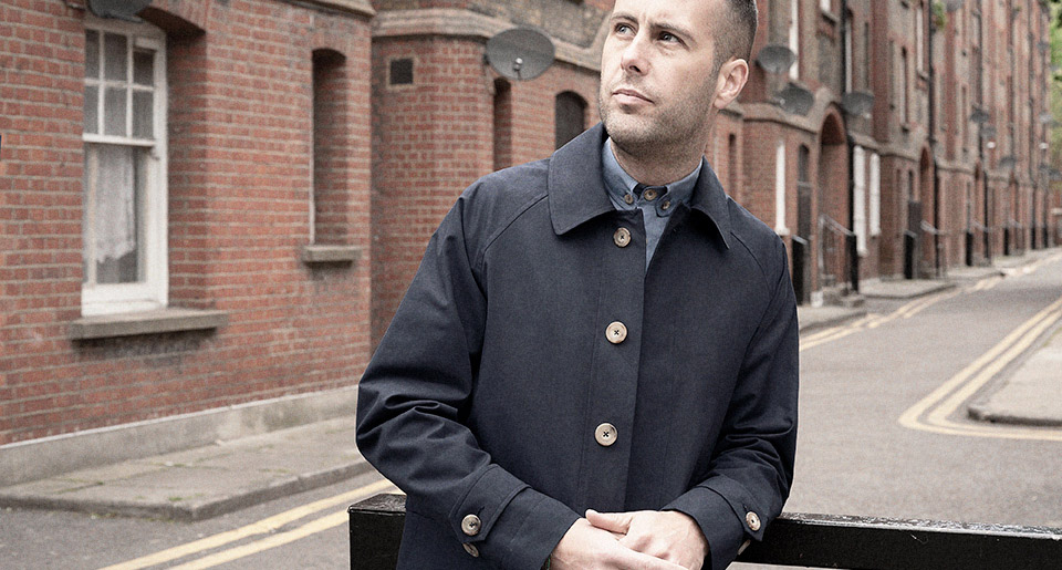 Navy blue Ventile mac — Garments made with the makers of the British Isles by S.E.H Kelly